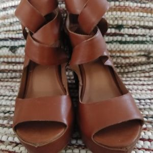 Mossimo Brown Leather Sandals Size 5.5